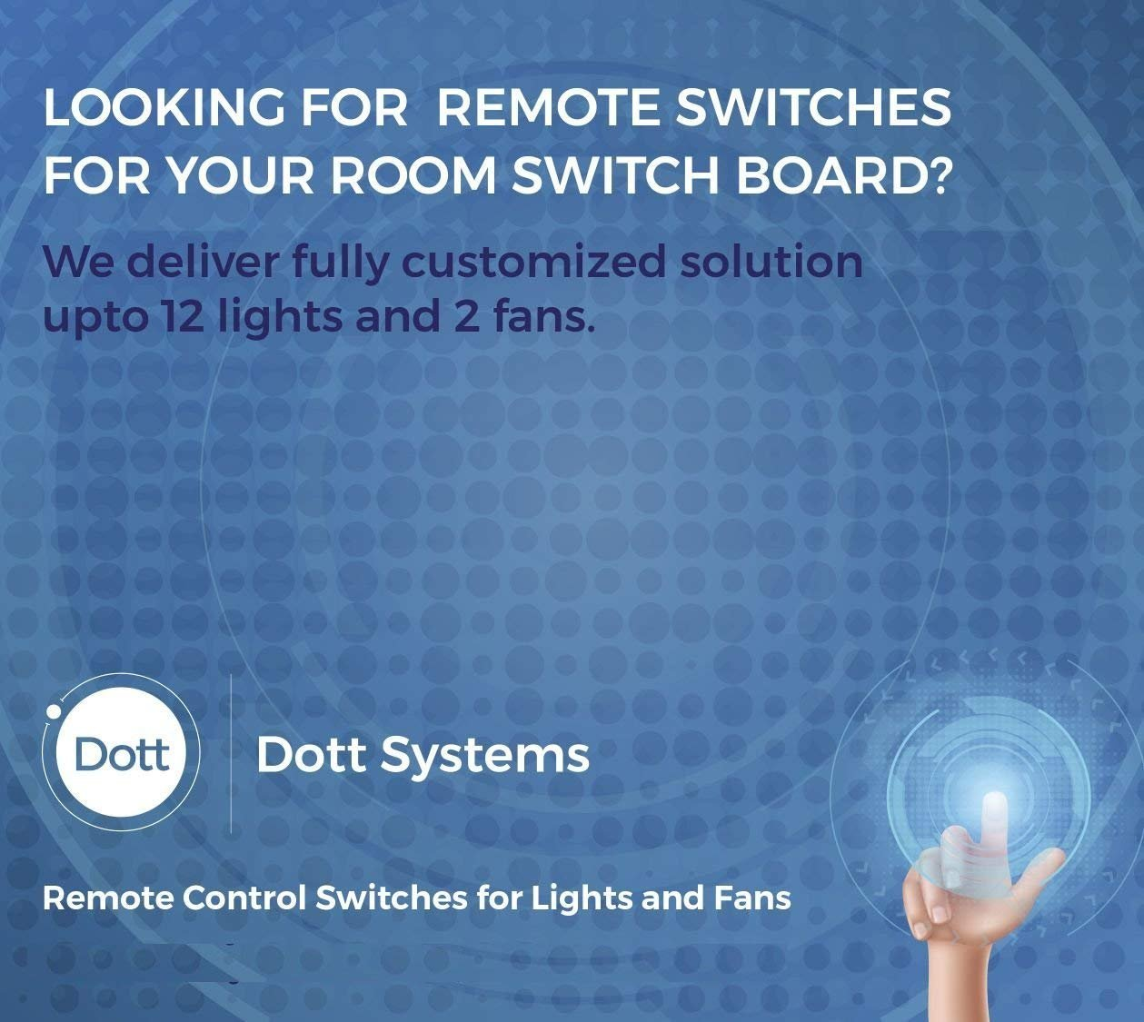 BIG i by Dott Systems Modular Remote Control Switches for 1 Light ...
