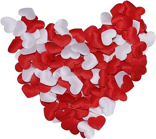 Valentines Decoration Romantic Sponge Heart Petals 100pcs Solid Colors Confetti