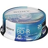 SONY ビデオ用ブルーレイディスク 20BNR1VJPP4(BD-R 1層:4倍速 20枚パック)