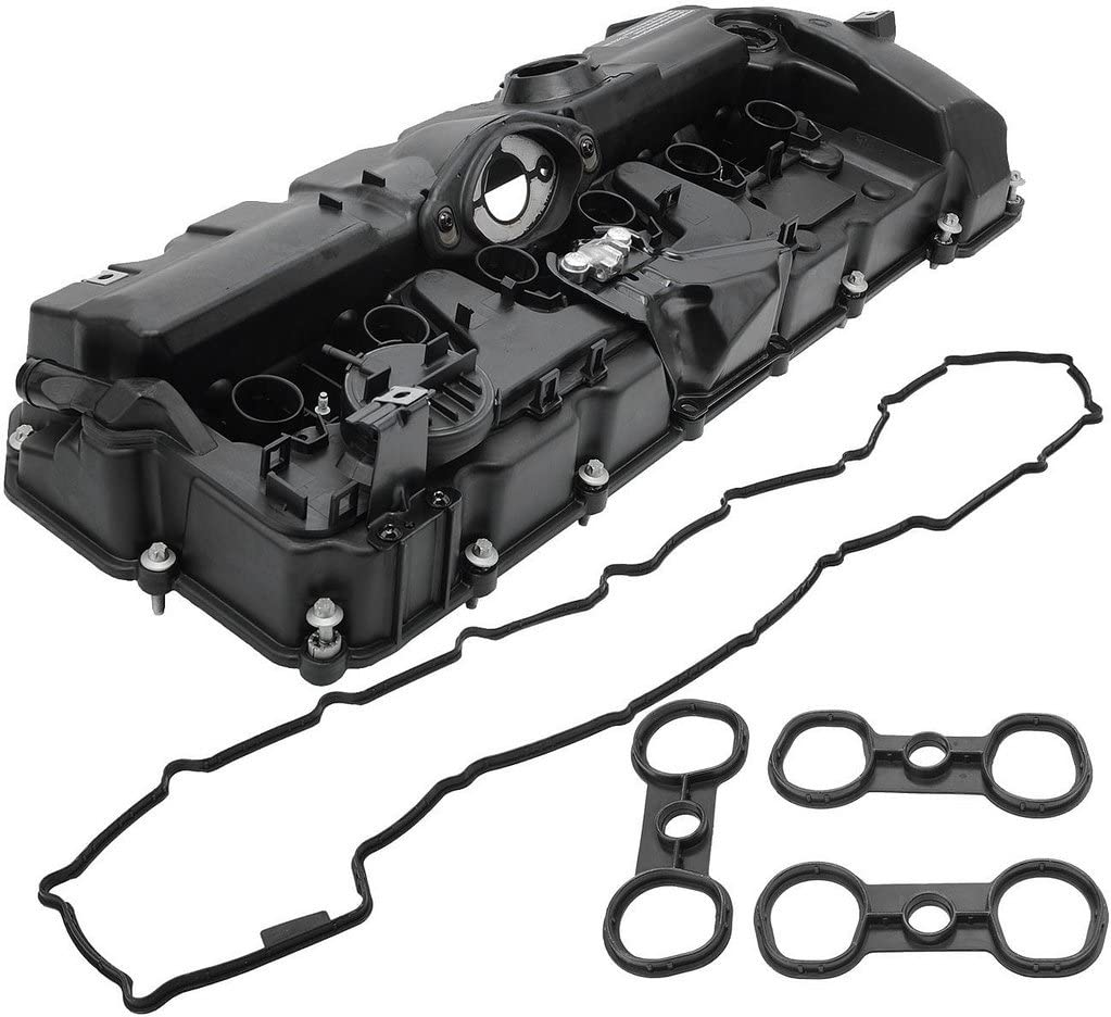 BOXI Valve Cover With PCV Valve, Gasket & Bolts Fits 3.0L BMW 2008-2013 128i 2007-2013 328i 2007-2008 328xi 2008-2011 528i 2008 528xi 2007-2012 X3 2007-2010 X5 2006-2011 Z4 11127552281,11127582245