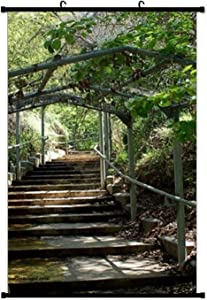 Garden Path Posters Wall Art Prints Living Room Scroll Poster Wall Decor 16 x 24 inches