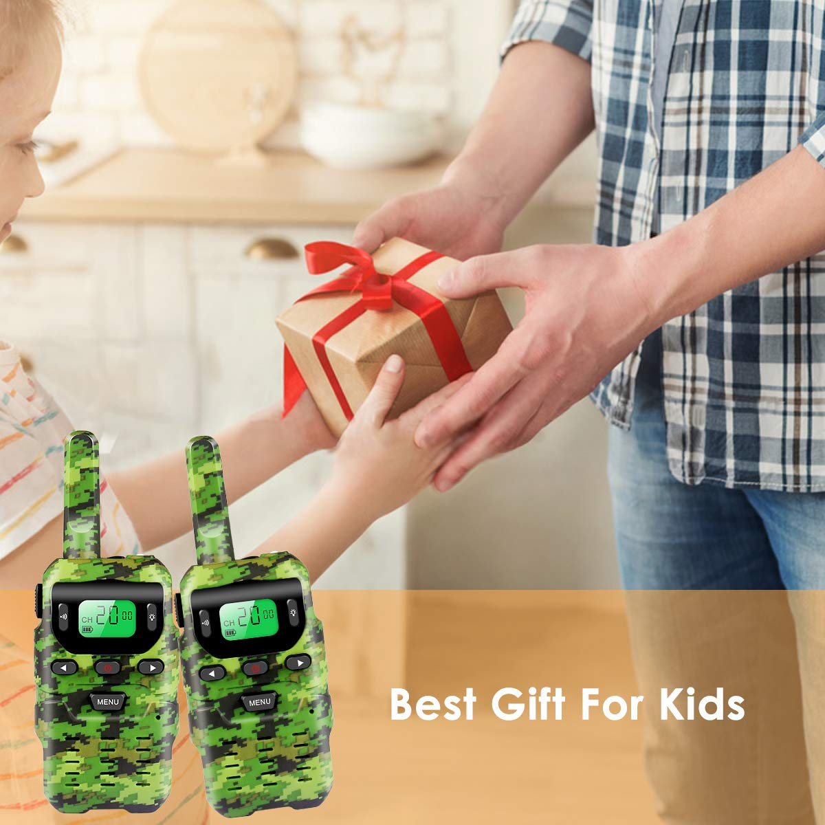 UOKOO Walkie Talkies for Kids, Toys for 3-12 Year Old Boys 22 Channel 3 Mile Long Range Kids Toys and Kids Walkie Talkies, and Top Toys for for 3 4 5 6 7 8 9 Year Old Boy and Girls by UOKOO (Image #4)