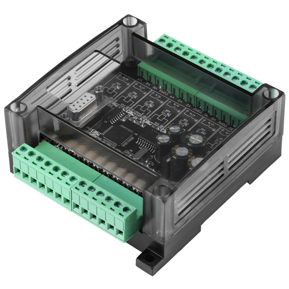 FX1N-20MT DC 24V PLC Industrial Control Board Stepper Motor Motion Programmable Controller Regulator with Case