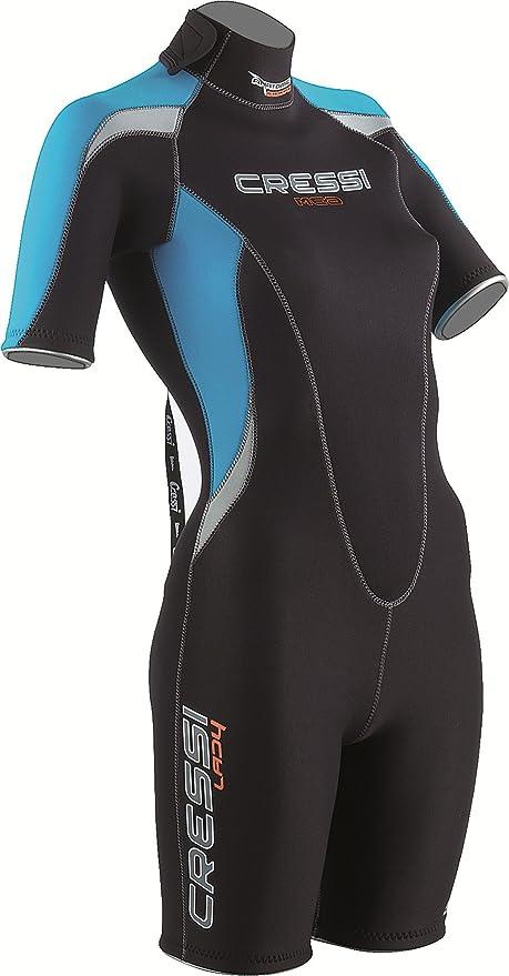 69faadd626 Amazon.com   Cressi Med 2.5mm Women s Back Zip Shorty Wetsuit ...