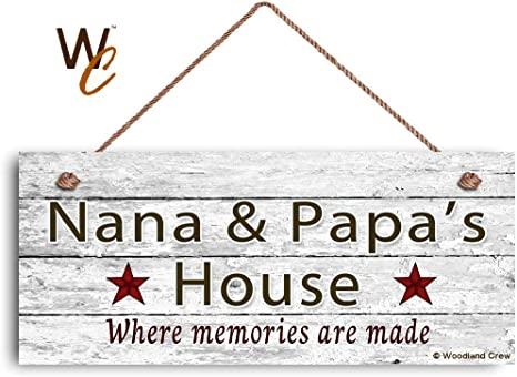 Rustic Style Sign Great Gift Where Memories Are Made PAPA/'S HOUSE Sign