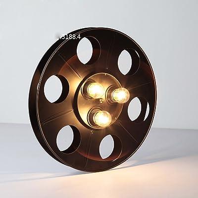 American Loft Style Industriel Lampe Murale Chambre Dans Un Décor Rétro En Fer Forgé Des Roues Du Véhicule Créatif Wall Lamp Black E27 110-220V