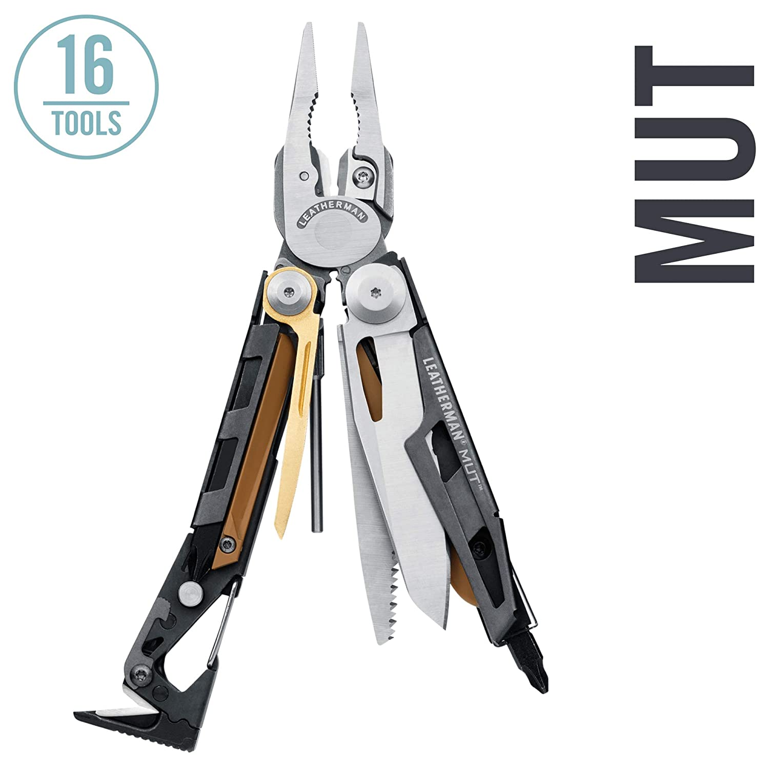 LEATHERMAN MUT Multitool with Premium Replaceable Wire Cutters and Firearm Tools Black with MOLLE Black Sheath