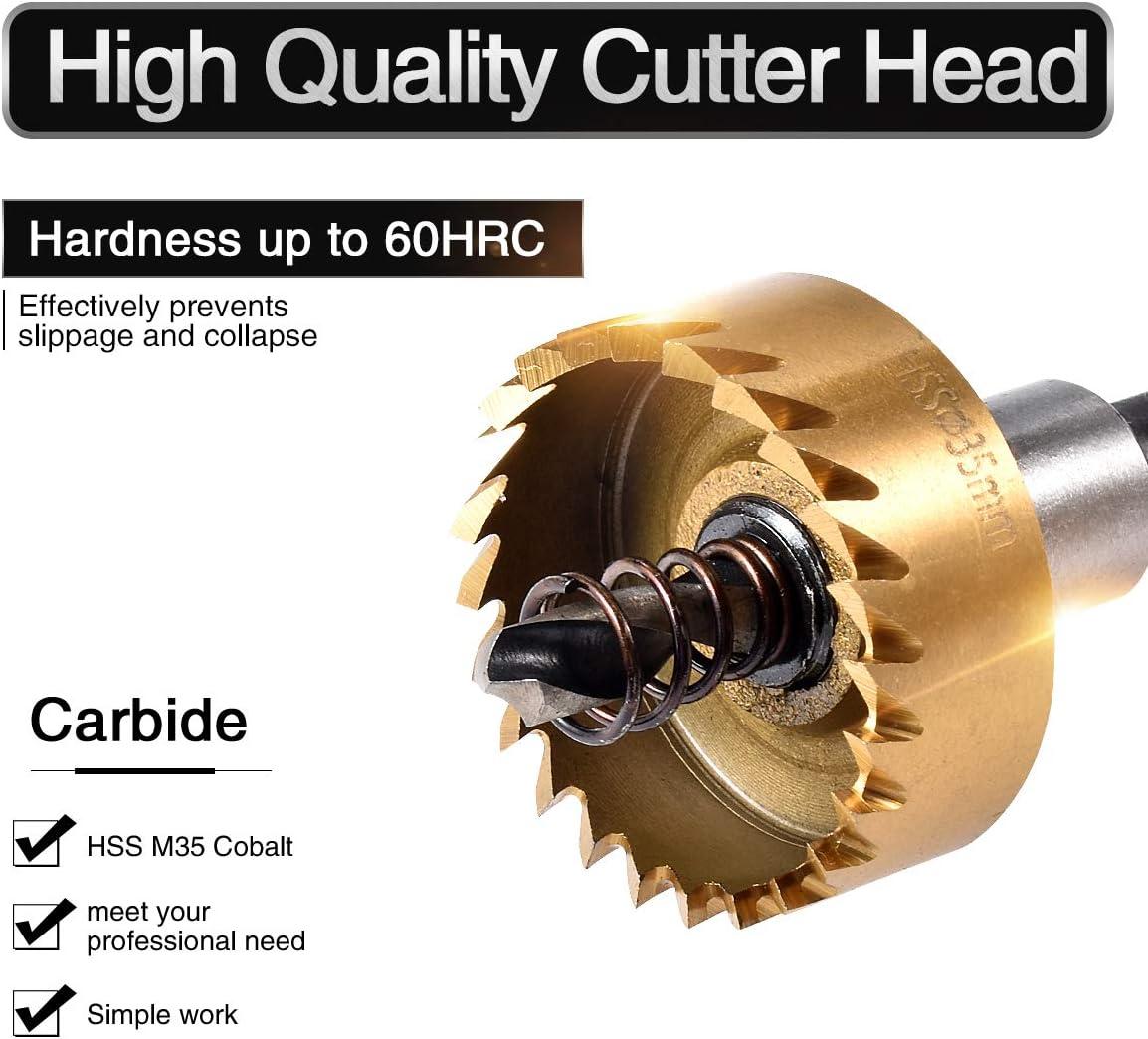 du m/étal Scie cloche avec foret haute vitesse en acier inoxydable rapide HOHXEN Pour la d/écoupe de lalliage de lacier 30 /à 60 mm Avec cl/és