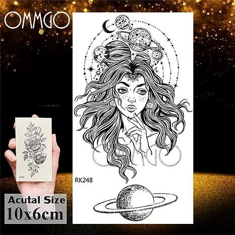5 piezas-acuarela astronauta universo tatuajes pegatina para niños ...