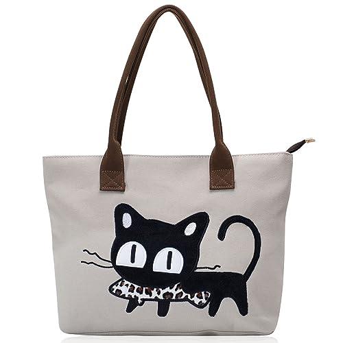 fba222516e0 Vintga Large Canvas Tote Bags Top Handle Satchel Handbag Shoulder Bag  Designer Purses for Women (