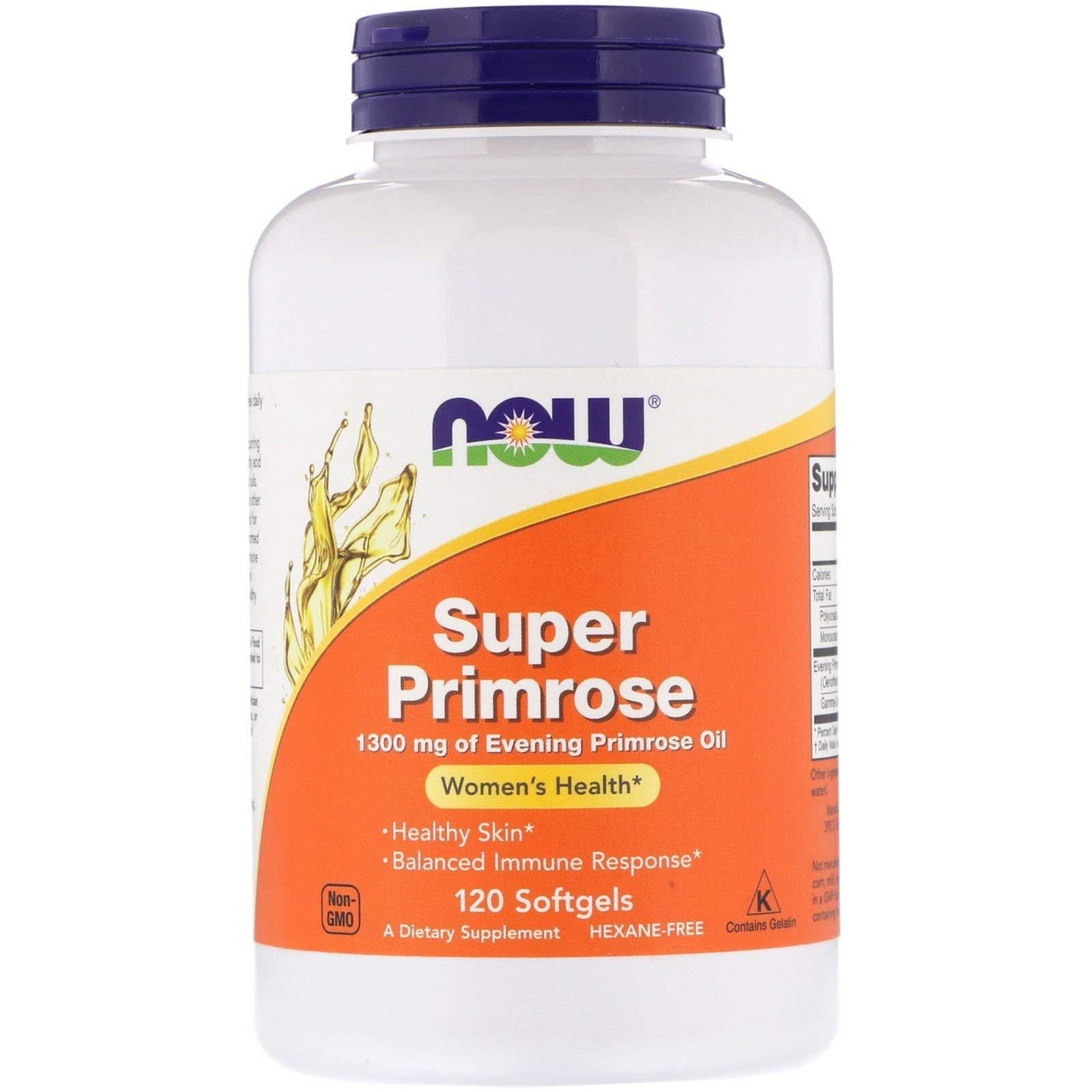 Now Foods, (3 Pack) Super Primrose, Evening Primrose Oil, 1300 mg, 120 Softgels