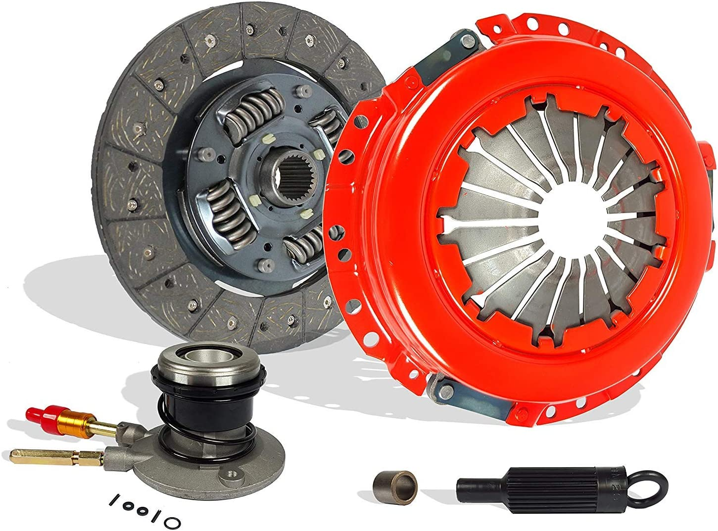 Clutch Kit And Slave Works With Gmc Sonoma Isuzu Base Chevy S10 Ls Sl Sls Sle Xs 1996-2001 2.2L l4 GAS OHV Clutch Disc Stage 1