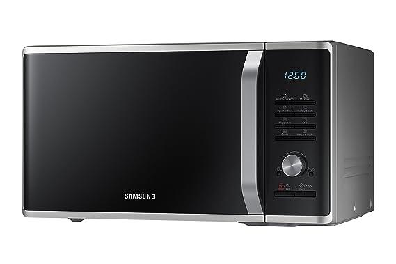 Samsung MG28J5255US/EC - Microondas con grill, 1000W/1500W, 28 litros, interior cerámico Enamel, incluye bol de cristal, color negro y gris
