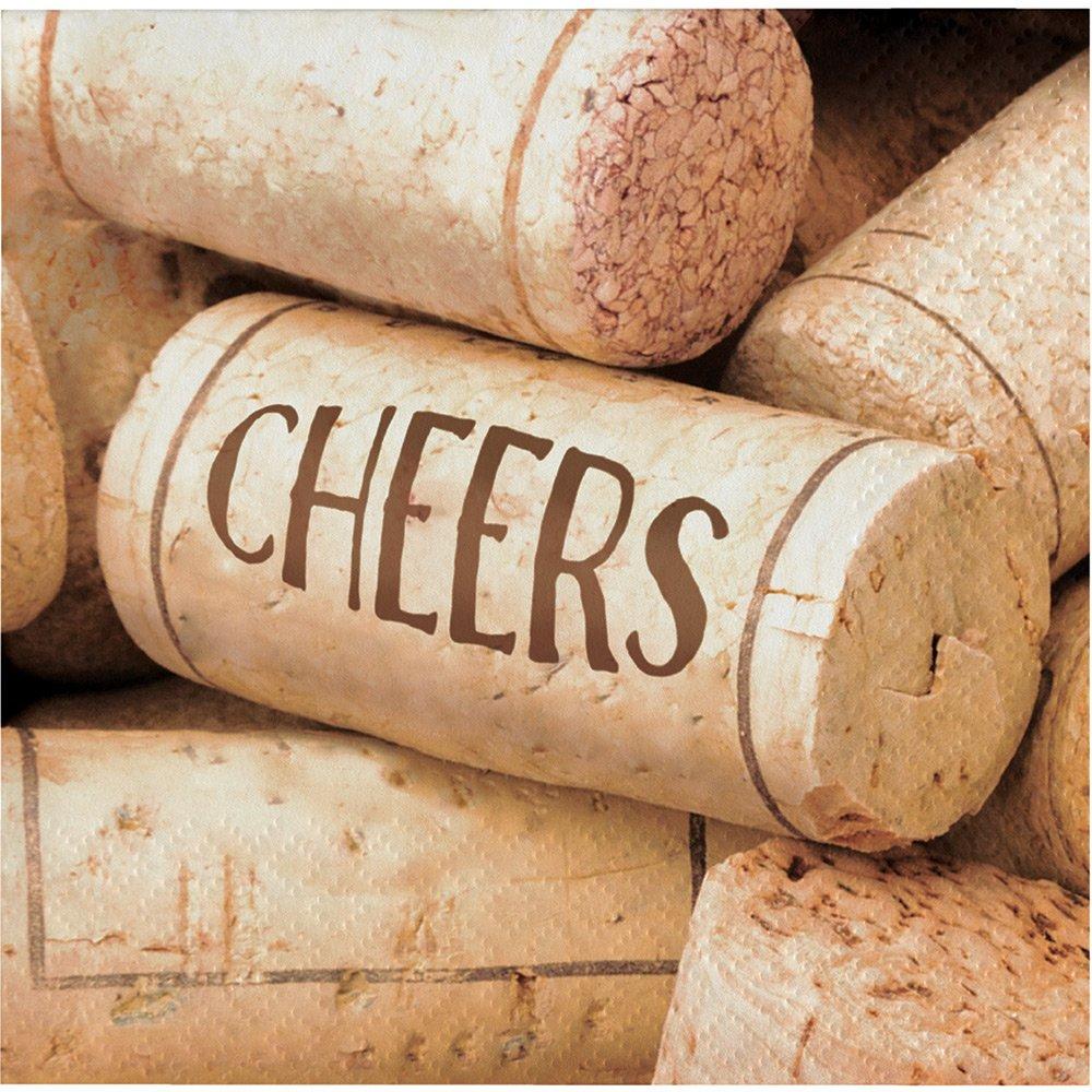 192-Count Beverage Paper Napkin, Sip Sip Hooray Cheers by Creative Converting (Image #1)