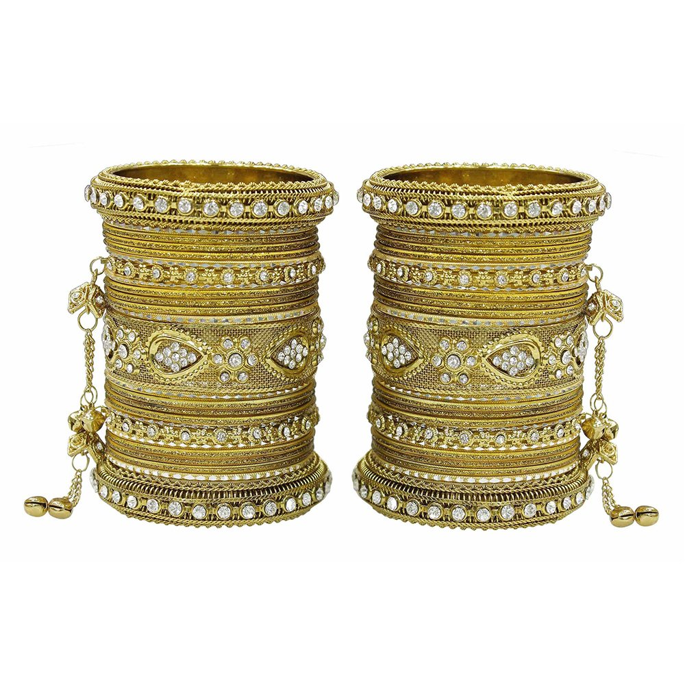 MUCH-MORE Women Amazing Traditional Fashion Multi Color Bangles Indian Party wear Jewelry (Antique, 2.6)
