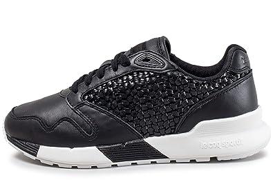 04f6578a8f2 Le Coq Sportif Omega X Woven Femme Chaussures Noir  Amazon.fr ...