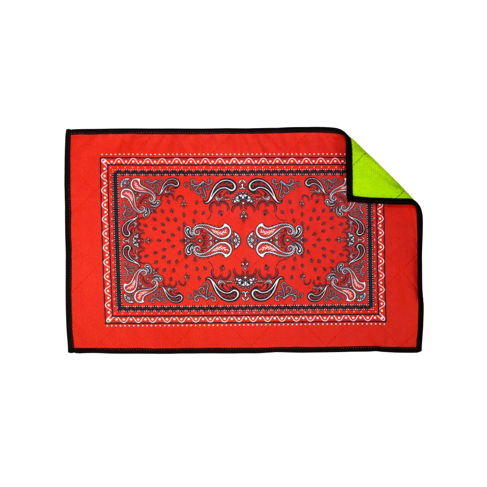 Exalt Paintball Microfiber Goggle Cloth - Player Size - Bandana Red by Exalt