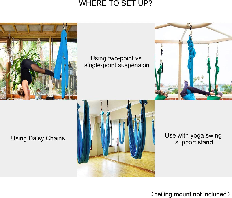Amazon.com: Sotech - Juego de columpios para yoga y yoga con ...