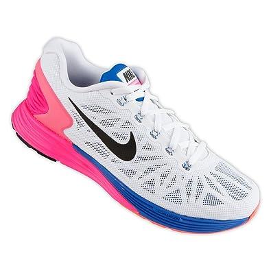 pick up 8df13 a1dd4 Nike Girls Lunar Glide 6 Running Shoes, Black Purple Pink, 3.5 UK