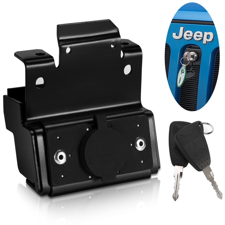 Attache Capot Jeep Wrangler JK, adapté pour Jeep JK 2007-2017, Sahara, Rubicon, Unlimited, Sport. Anti-Theft Kit, 2 Portes / 4 Portes. Wrangler Hood Lock, Hood Latch Lock adapté pour Jeep JK 2007-2017 Luchi
