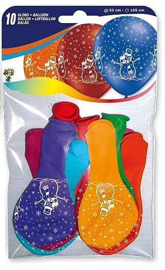 10 Luftballons * SCHNEEMANN * Als Deko Für Weihnachten, Kindergeburtstag  Oder Party // Mit
