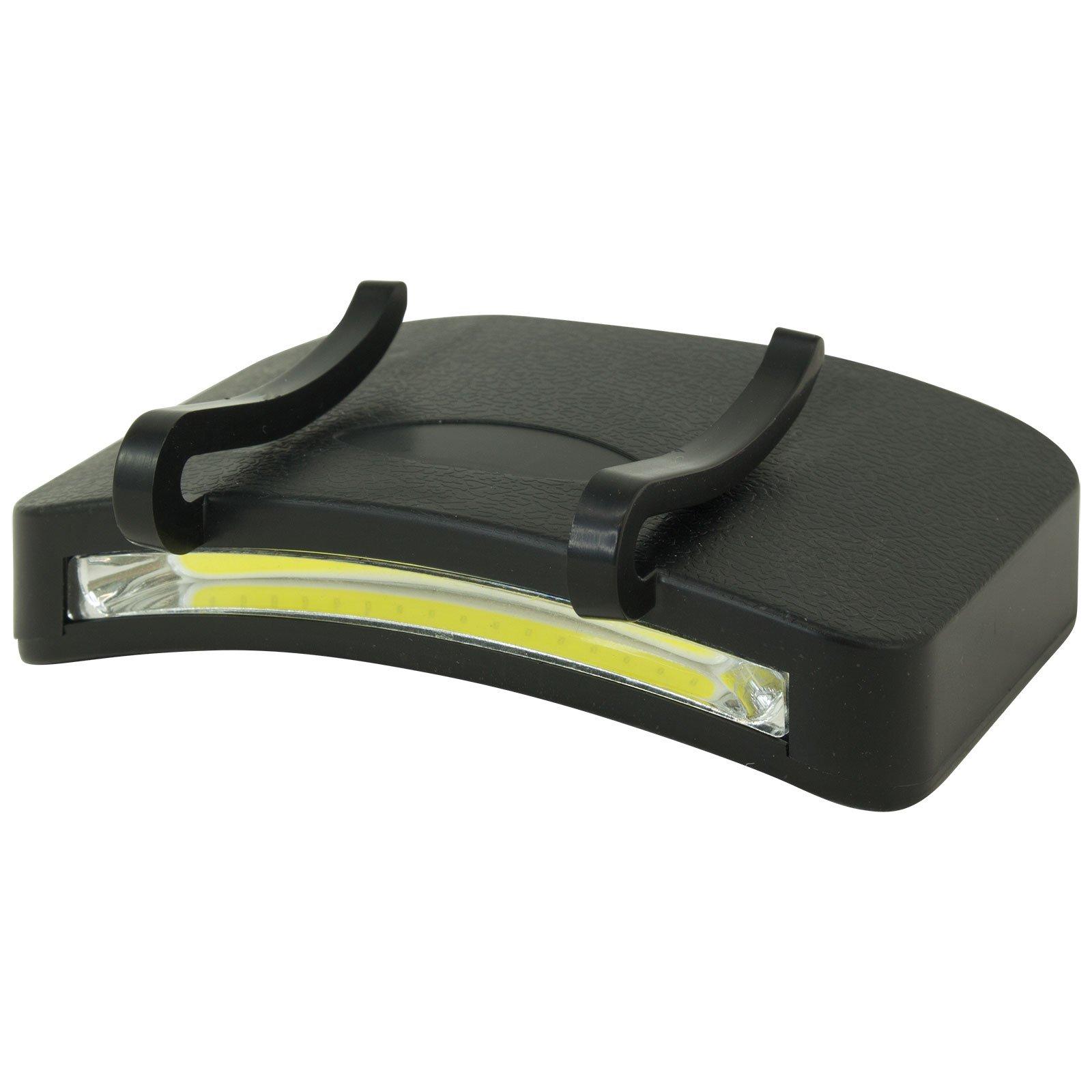 2 PACK - 400 Lumen Hi Mode / 180 Lumen Low Power Mode (2 X Cap Lights > 2 X Power & 2 X Bright) COB LED Clip On Cap Light DOUBLE BRIGHT (100% MFG Guarantee) (Black) by Apollo's Products (Image #2)