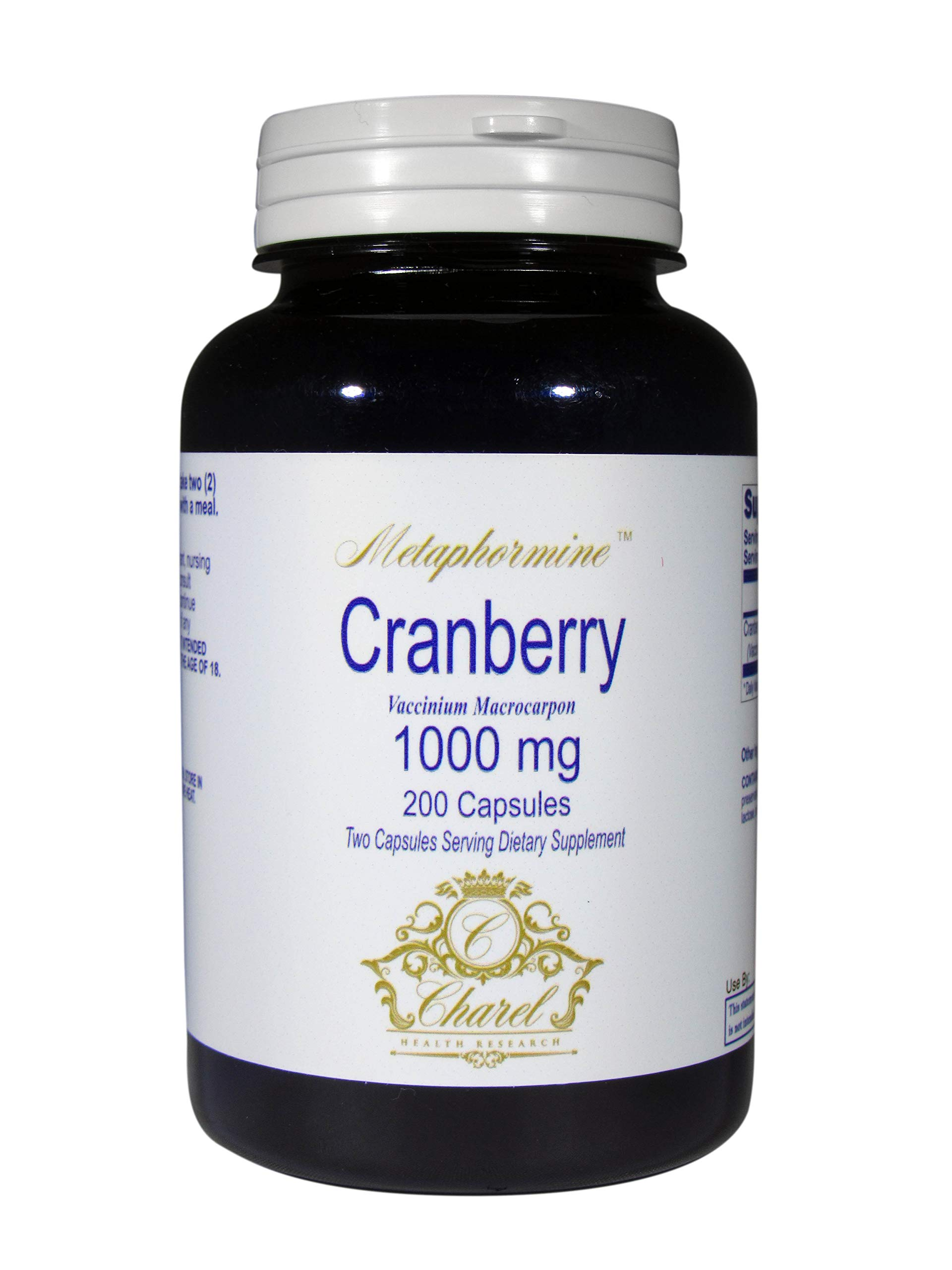 Cranberry Pills 200 Capsules 1000mg - 100 Day Supply of Cranberry Concentrate Pills to Support UTI Treatment, Bladder and Urinary Health - All Natural Ingredients