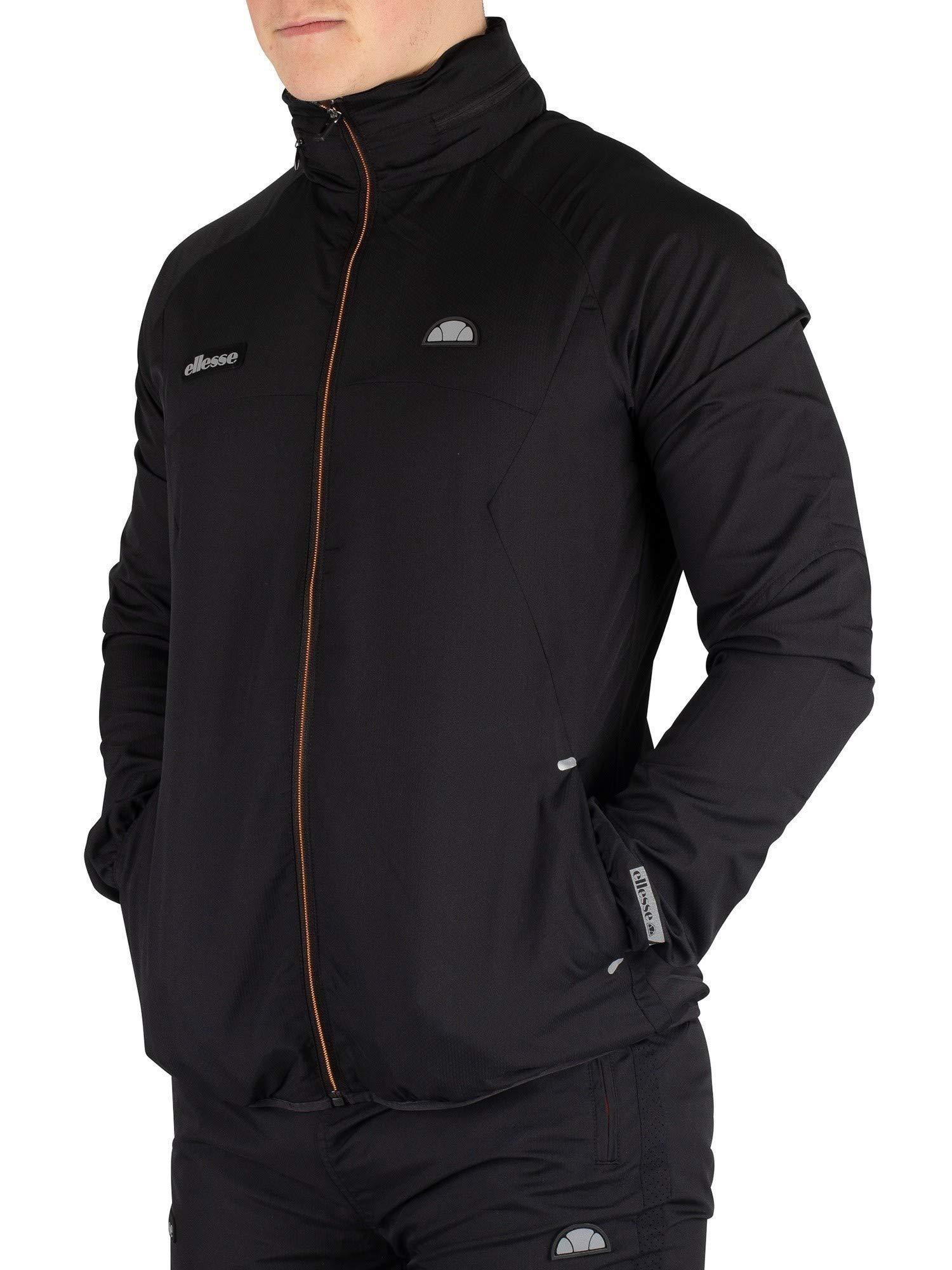 ellesse Men's Calabrian Poly Ripstop Jacket, Black