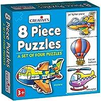 Creative Educational Aids P. Ltd. 8 Piece Puzzles (Multi-Color, Set Of 4)