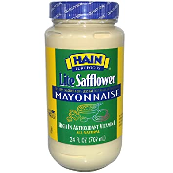 Hain Pure Foods Lite Safflower Mayonnaise, 24 Ounce