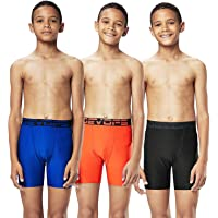 DEVOPS Boys 3 Pack Sports Performance Active Compression Cool Dry Baselayer Shorts
