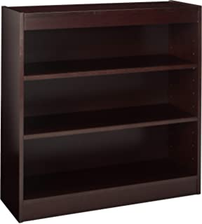Lorell 3 Shelf Panel Bookcase 36 By 12 Inch Mahogany