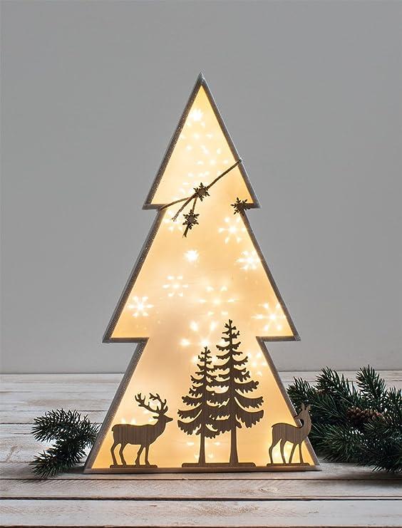weihnachtliche Dekoration 22x36 cm und 30x49,5 cm Rayher 62830000 Holz-Rahmen Weihnachtsbaum Set 2 Holz-B/äume Tannenbaum