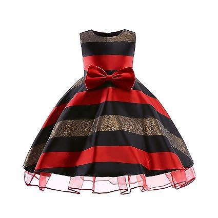 YRE Chica Arco Vestido de Malla a Rayas, Horizontal Grande Sujetador Vestido Falda, Fiesta