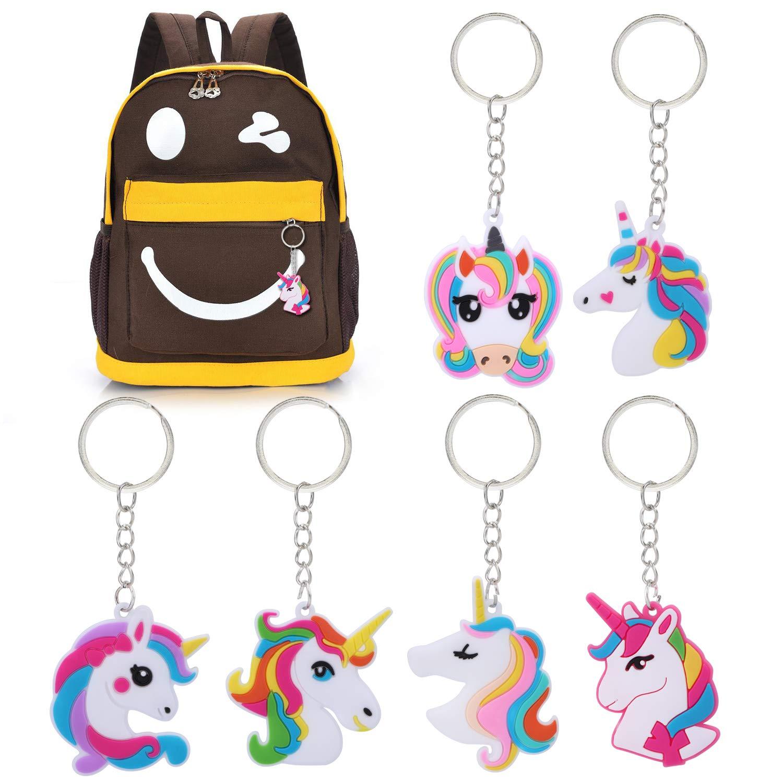 Howaf 62 Pezzi Unicorno Accessori Portachiavi Braccialetti cannucce Adesivi e Unicorno Penne Gel per Bambini Ragazze Gadget Unicorno Festa Compleanno Regalo