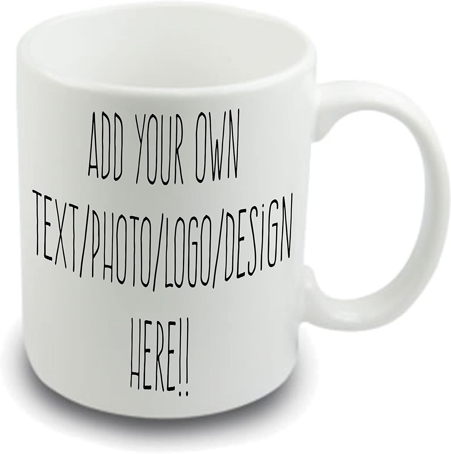 Design your own mug Personalised mug ~ your own name picture message text ~  4 oz white mug