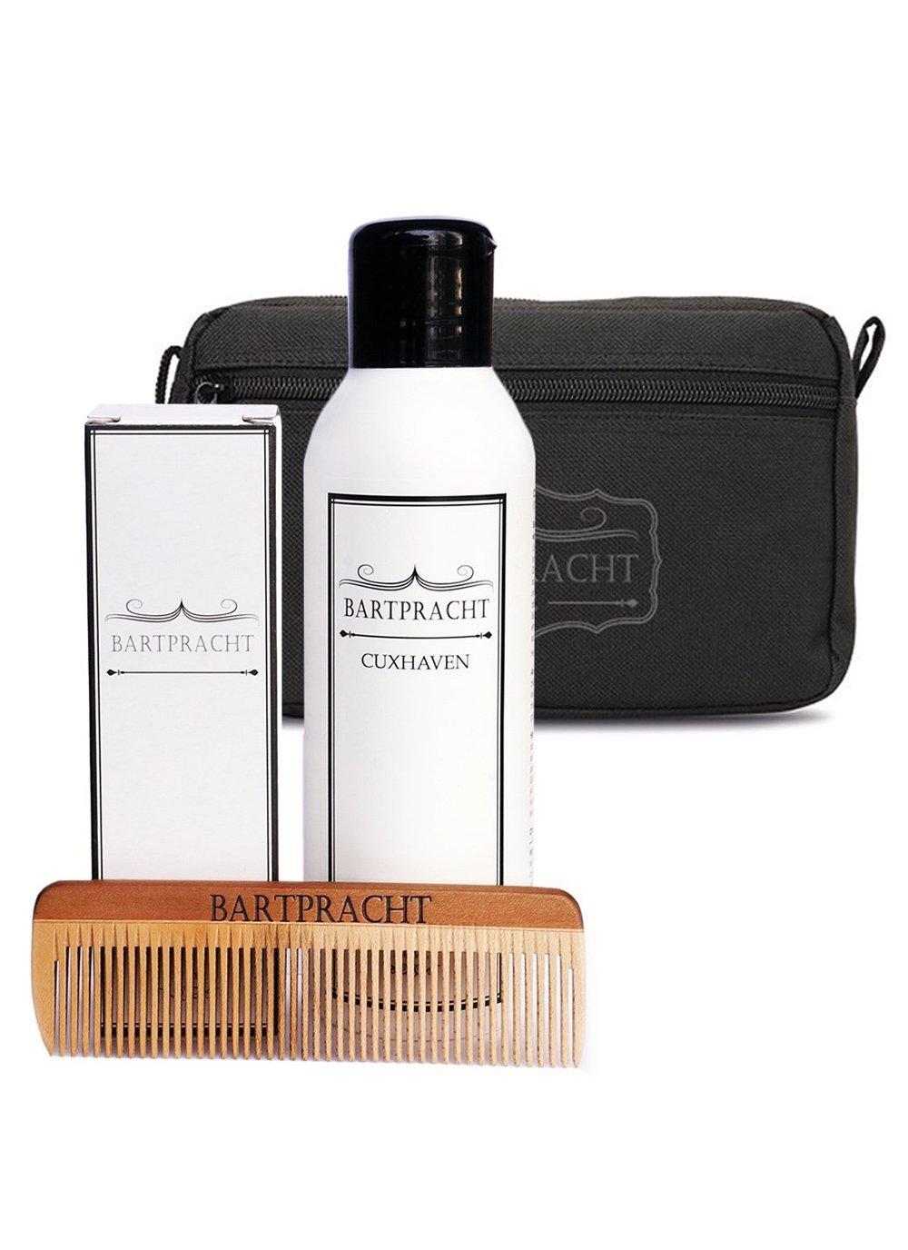 Barba PRACHT Juego de cuidado de Deluxe, incluye bartöl, barba Jabón & Peine con Neceser, alrededor de para de cuidado para la barba, perfecto Hombres de ...