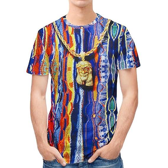 Camisetas Estampadas Hombres Camiseta Estampada 3D para Hombres Camisas Rayas Hombre AIMEE7 Camisetas Vintage Hombre Camisetas Hawaianas Hombre Camisas ...