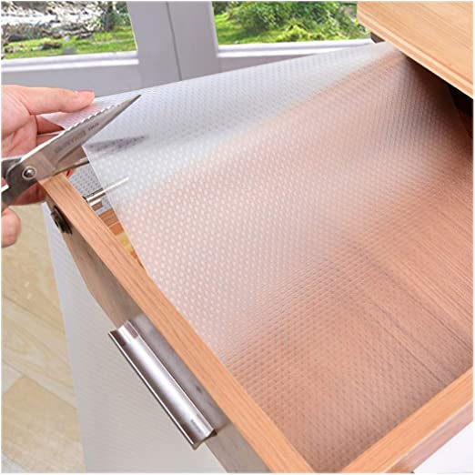 Shelf Liner Cabinets Covering Self Adhesive Drawer Toilet Shelving Kitchen