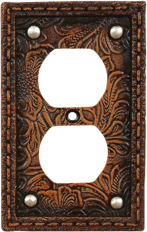 Amazon Com Black Forest Decor Decorative Rustic Outlet Cover For Electrical Switch Plate Tooled Flower Home Improvement