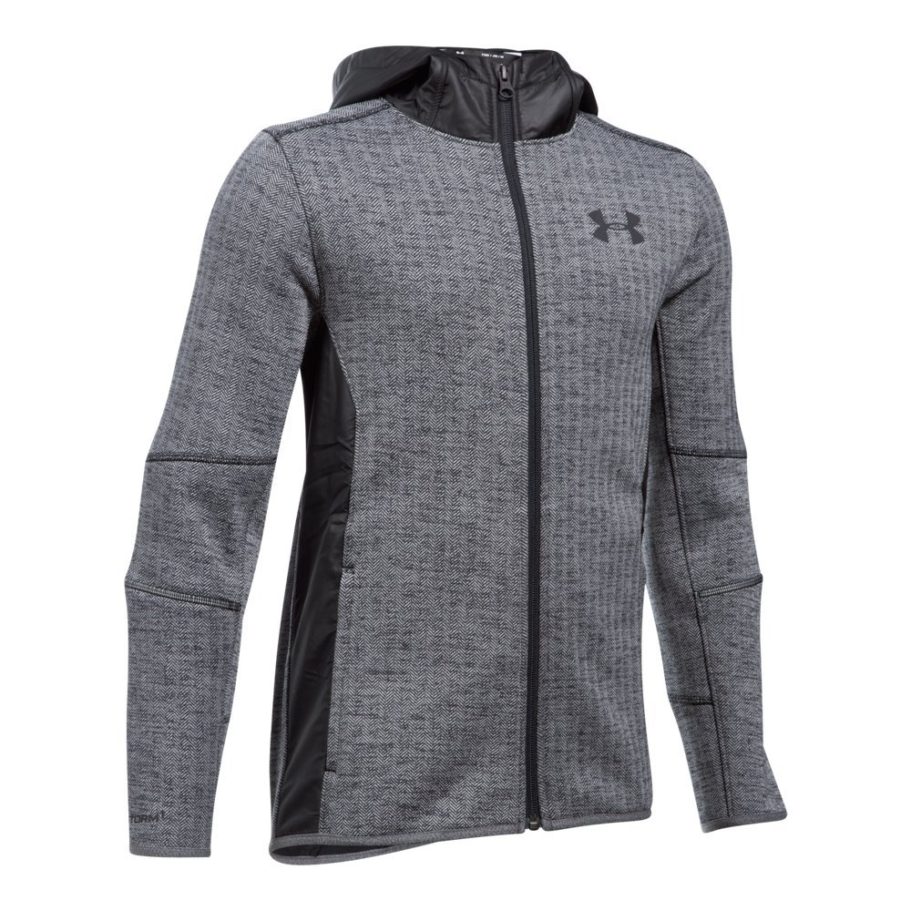 Under Armour Boys' Swacket FZ,Black /Black, Youth X-Small