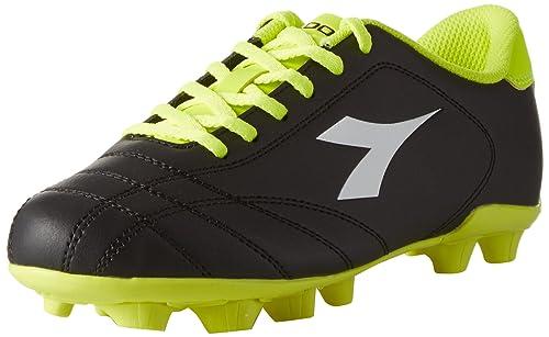 6play MD, Zapatillas de Fútbol para Hombre, Negro (Nero/Bianco/Giallo FL DD), 43 EU Diadora