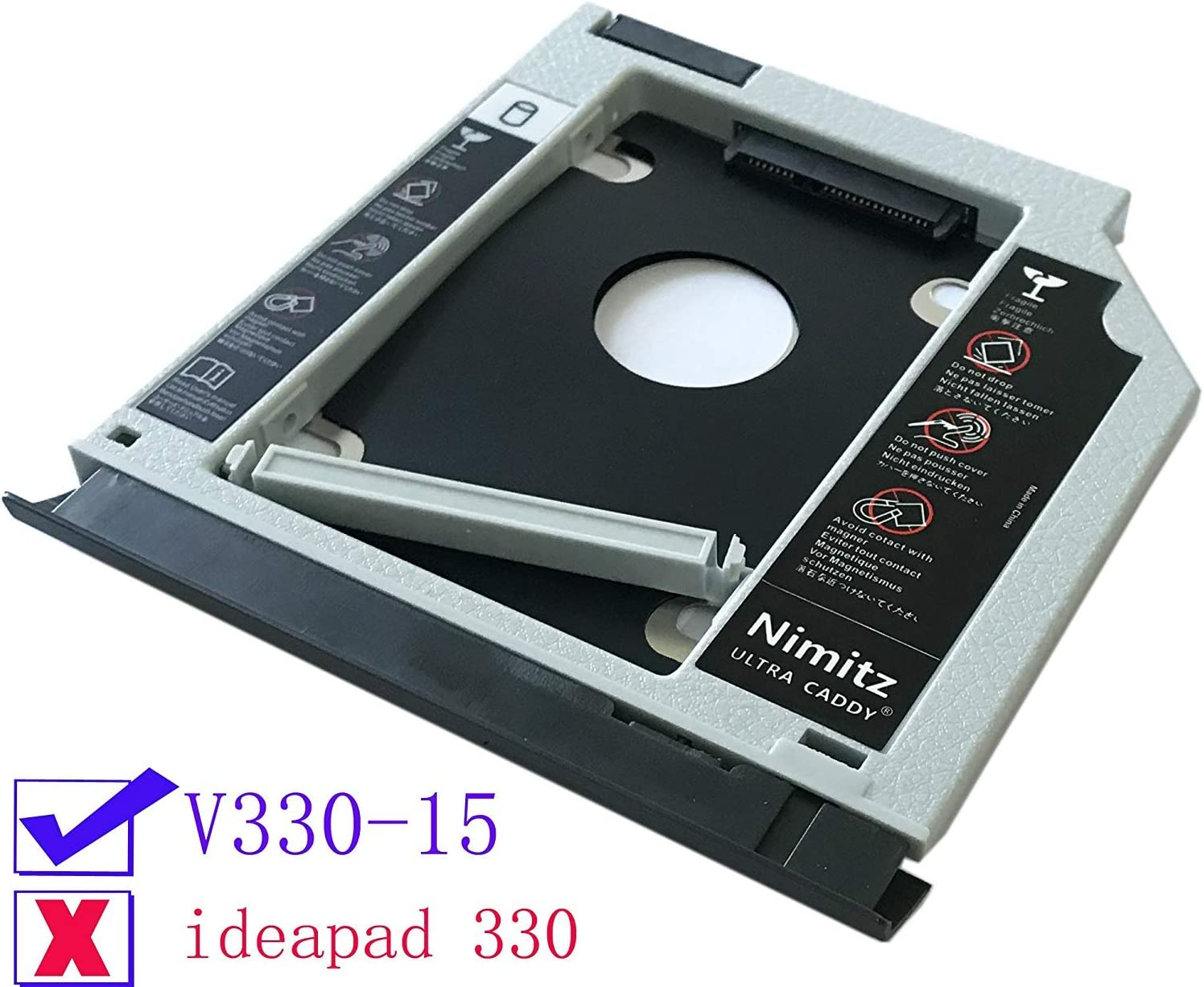 ULTRACADDY 2ª HDD SSD Disco Duro Caddy para Lenovo V330-15 con ...