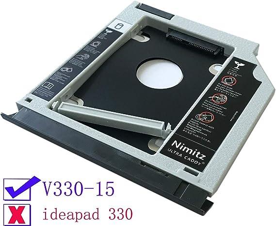 ULTRACADDY 2ª HDD SSD Disco Duro Caddy para Lenovo V330-15 con ...