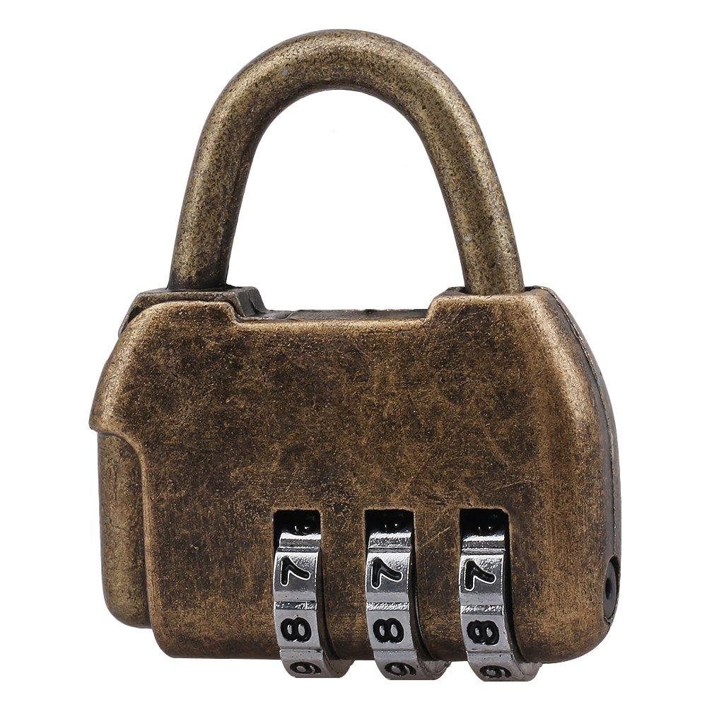 per armadietti e per ufficio per borse da viaggio stile retr/ò di zinco Set di 5/lucchetti con combinazione a 3/cifre