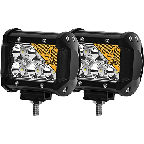 Eyourlife Led Light Pods 18W 4 Inch Spot Beam Cree Led Pod Lights Off Road Lights