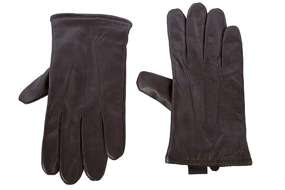 084a4c585765 Guess gants homme en cuir marron EU L AM0003LEA43  Amazon.fr ...