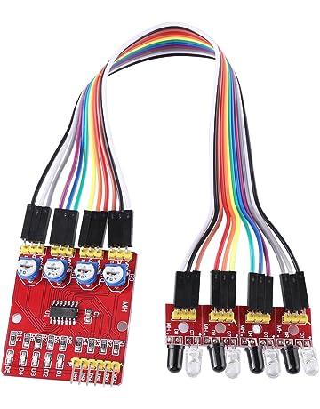Capteur de mesure infrarouge de haute pr/écision GP2Y0A21YK0F avec c/âble de raccordement 10-80cm 4.5-5.5V Capteur de t/él/ém/étrie infrarouge GP2Y0A21YK0F avec c/âble de raccordement 10-80cm 4.5-5.5V
