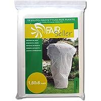 Fairseller Telo antigelo per Piante in Tessuto Non Tessuto. 1,60x6mt (45gr/mq) 9,6mq. Anti-Strappo. Super Resistente. Traspirante. Riutilizzabile.