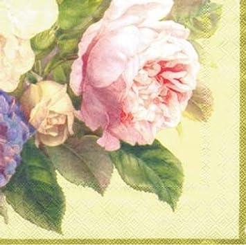 ideal home range 20 count decorative paper napkins cocktail fairy rose cream - Decorative Paper Napkins